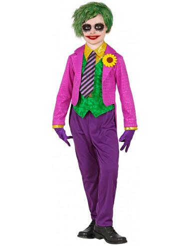 Disfraz de Joker Loco para Niño