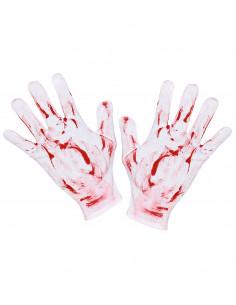 Guantes Blancos con Sangre...