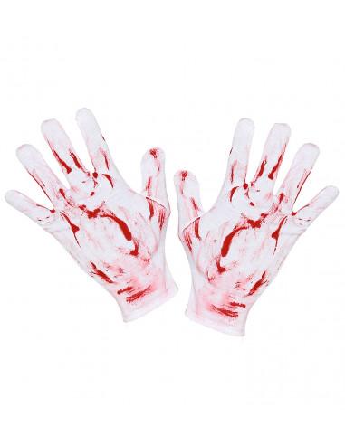 Guantes Blancos con Sangre para Adulto