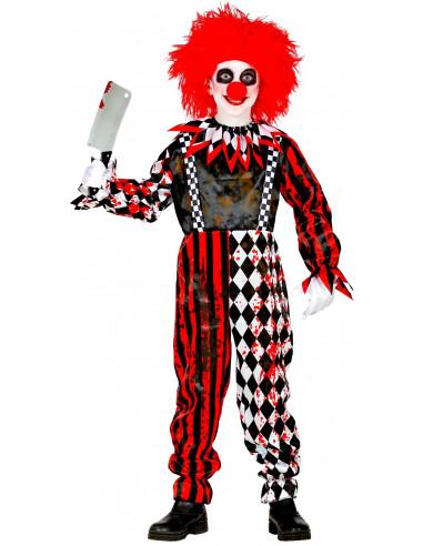 Disfraz de Payaso de Terror Rojo y...