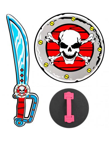 Escudo y Espada Pirata Infantil de...