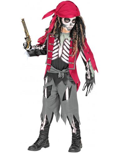 Disfraz de Esqueleto Bucanero para Niño