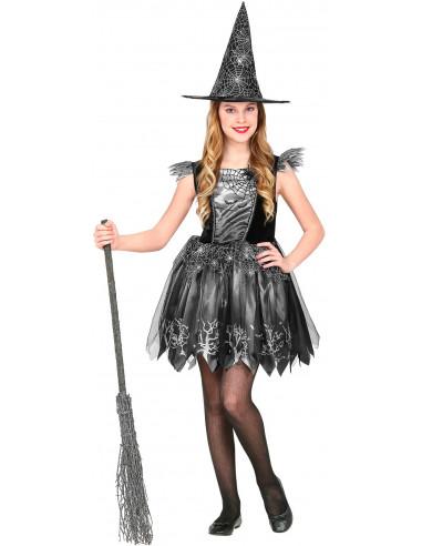 Disfraz de Bruja Negro Estampado...