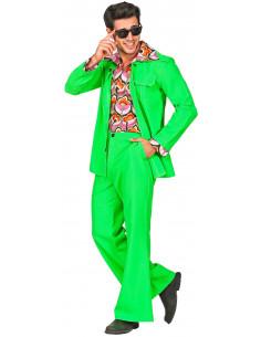 Traje Disco Años 70 Verde...