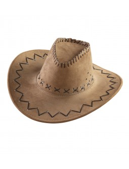Sombrero decorado en marron