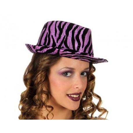 Sombrero estmapado con lentejuelas