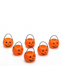 Seis mini calabazas - Halloween -