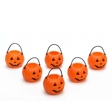 Seis mini calabazas - Halloween -