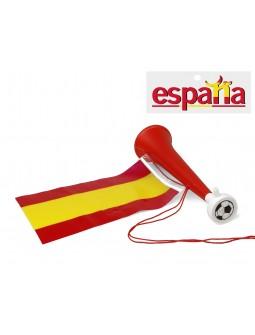 Trompeta con bandera de ESPAÑA