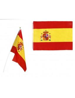 Banderin con mastil de ESPAÑA