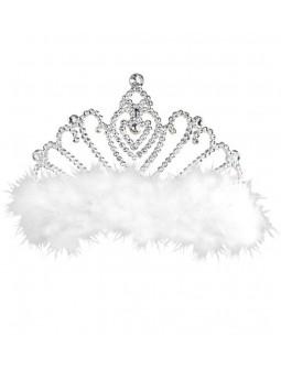 Tiara decorada con marabú