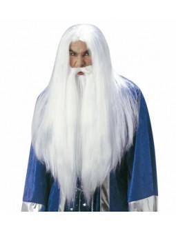 Peluca con barba - Wizard -