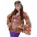 Anillo de Hippie en plateado con brillos