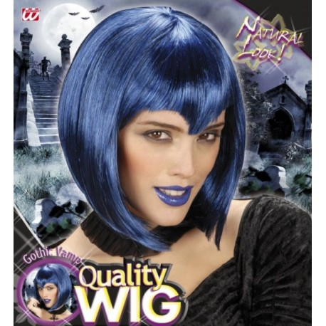 Peluca Vampiresa Azul