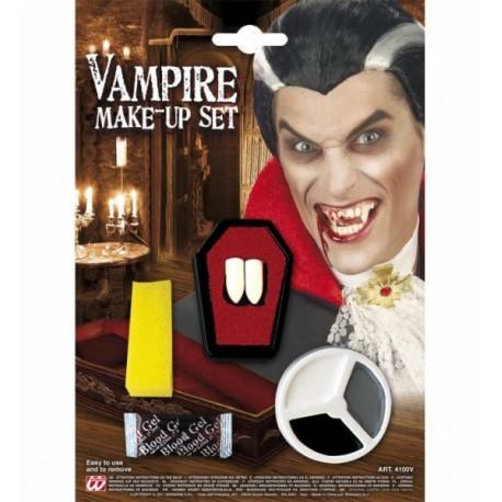 Set Vampiro, maquillaje, colmillos y sangre