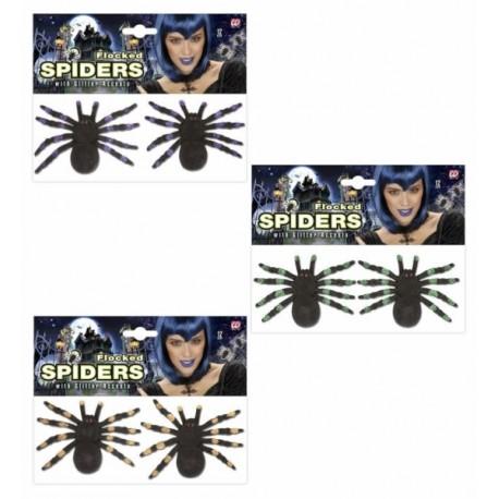 Arañas con brillos en colores