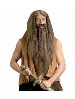 Peluca con barba - Barbarian -