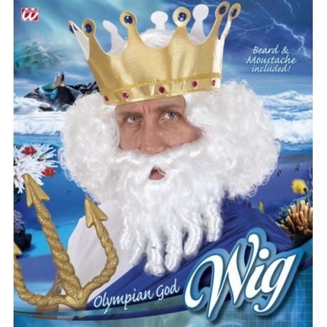 Peluca con barba - Olympian God -