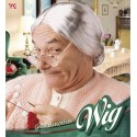 Peluca de abuela con moño
