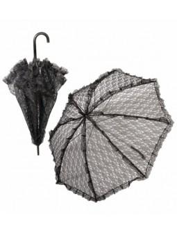 Sombrilla de encaje negra