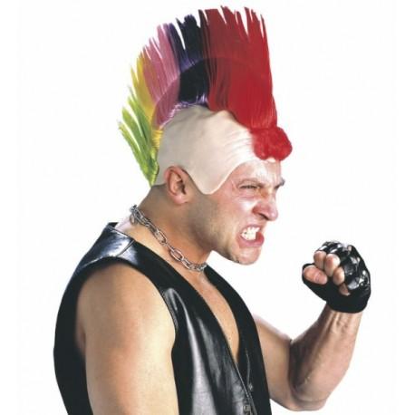 Cresta de Punk multicolor