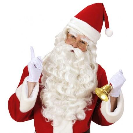 Peluca con barba larga de Santa Claus - Super Lujo