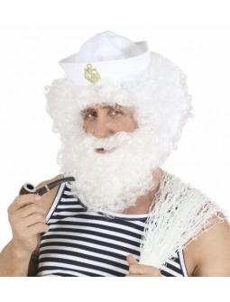 Peluca con barba blanca
