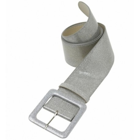 Cinturon Purpurina en plata