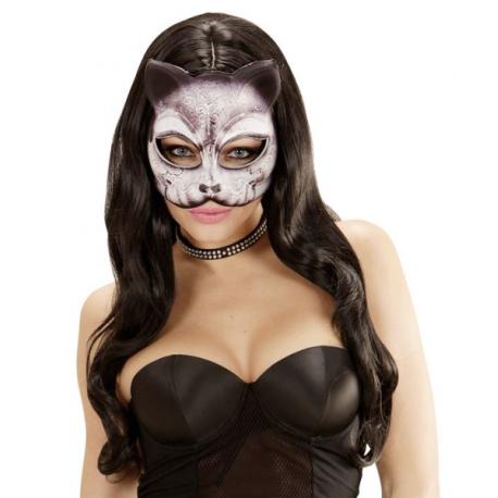 Mascara de tela de Gato