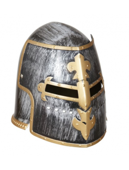 Casco medieval con careta