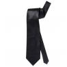 Corbata de raso negro