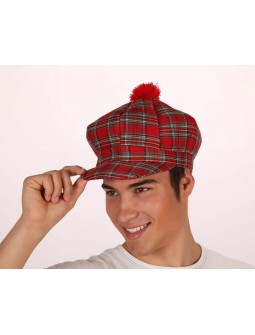Gorra de cuadro escocés