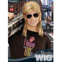 Peluca años 80, con gafas