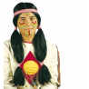 Peluca de Indio con coletas