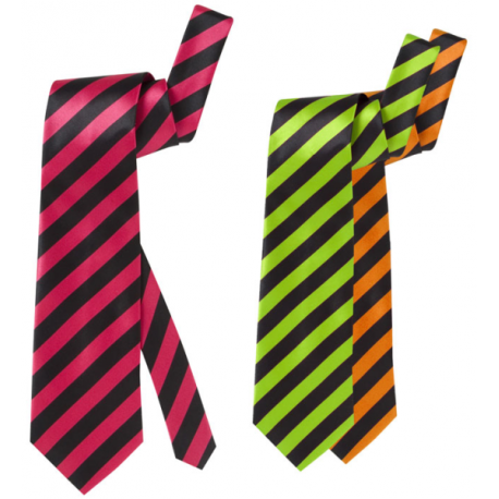 Corbata Rayas Fluorescentes