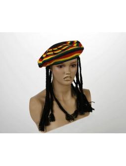 Gorra Jamaicana con rastas