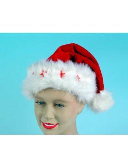 Gorro Papa Noel de terciopelo y con estrellas