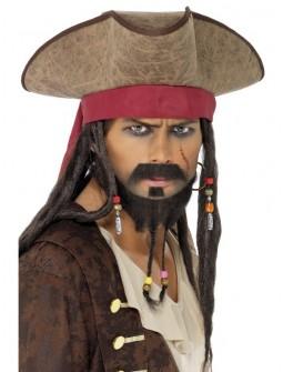 Sombrero Pirata con pelo
