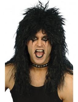 Peluca negra de Rockero