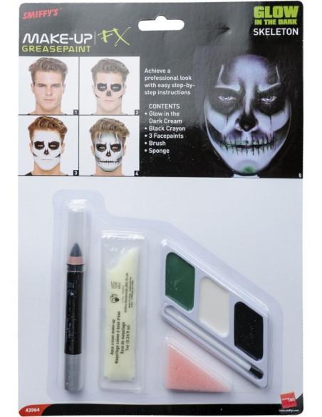 Maquillaje luminoso de Esqueleto