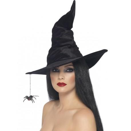 Sombrero de bruja con araña