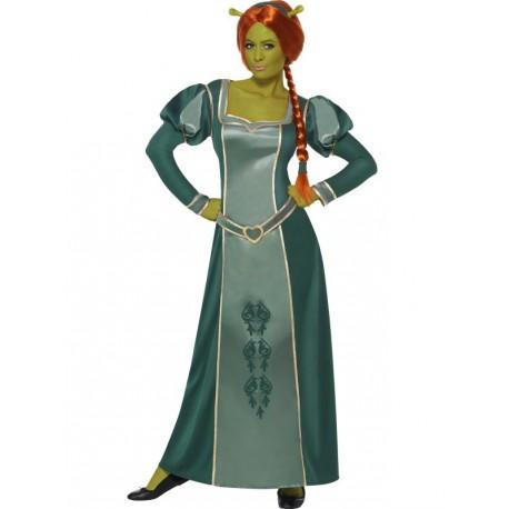 Vestido de Fiona Shrek con Peluca