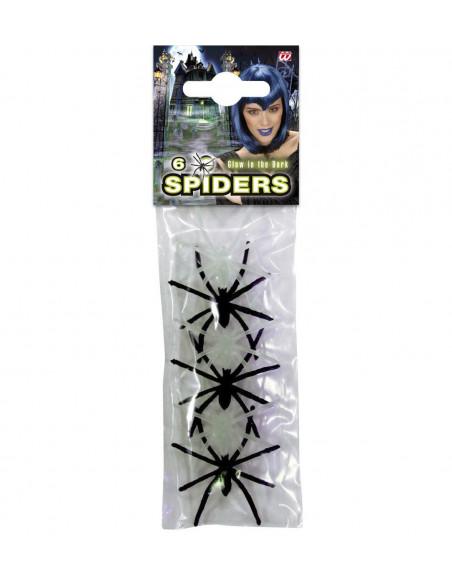 Pack Arañas Negras y Fluorescentes