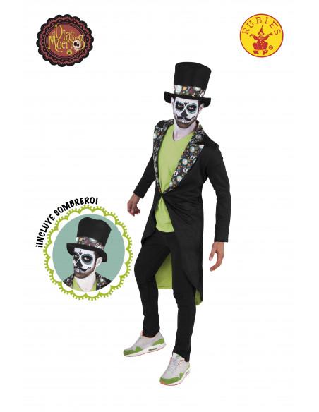 Chaqueta y sombrero Dia de los Muertos