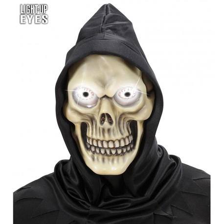 Mascara de Calavera con Capucha y Ojos Luminosos