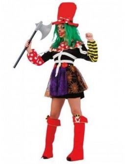 Disfraz de Payasa de Terror para Mujer