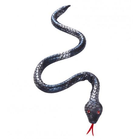 Serpiente con brillos plata moldeable