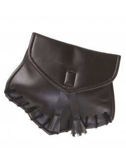 Bolsita de polipiel con tira trasera para cinturón