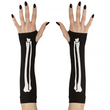 Guantes largos de huesos sin dedos