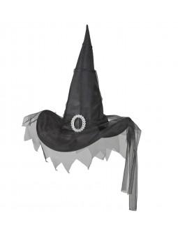 Sombrero de bruja con tul